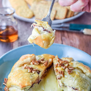Baked Brie Nestled in Pastry.