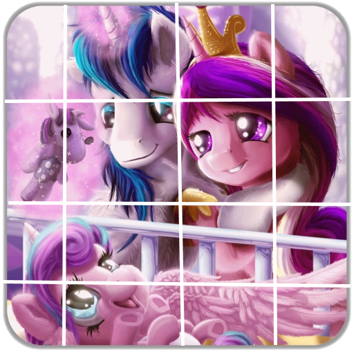 Tile Puzzle Equestrian Girls