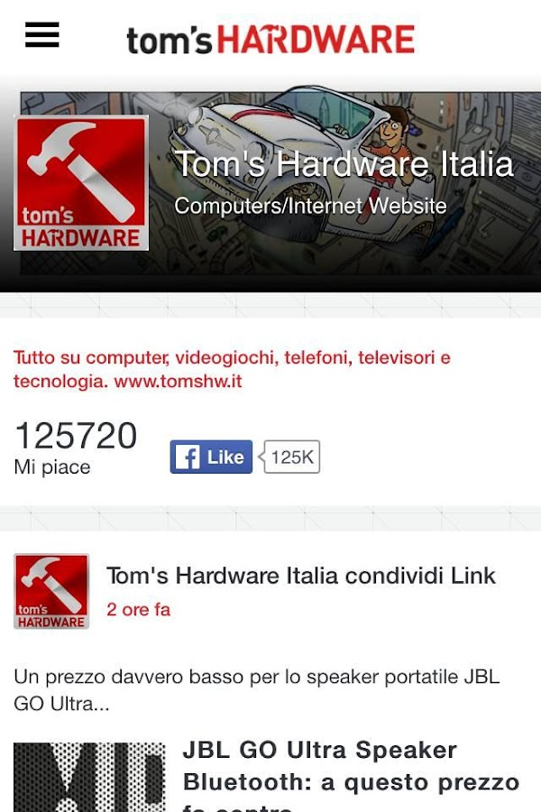 Tom's Hardware- screenshot