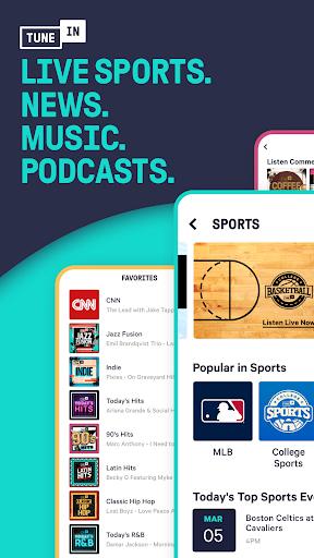 TuneIn Radio: Live News, Sports & Music Stations screenshot 7