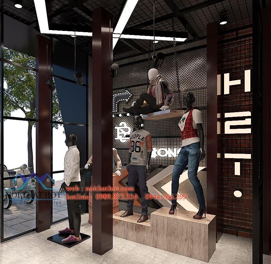 thiết kế shop thời trang nam h2t xuân thủy 5