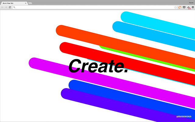 Create. | a customizable new tab page