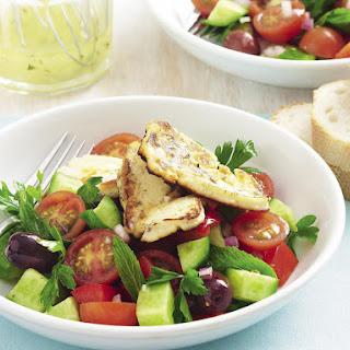 Greek-Style Salad with Haloumi.