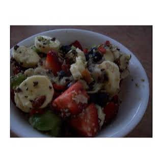 Fresh Fruit Salad With Custard Apple Fruit.