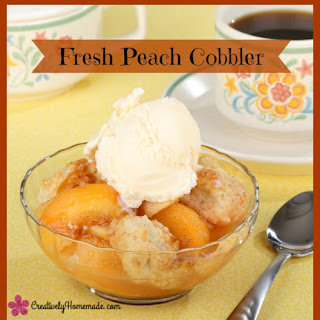 Homemade Fresh Peach Cobbler