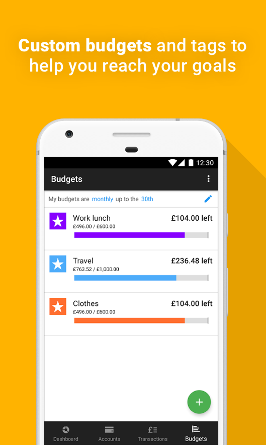 Money Dashboard Budget Planner- screenshot