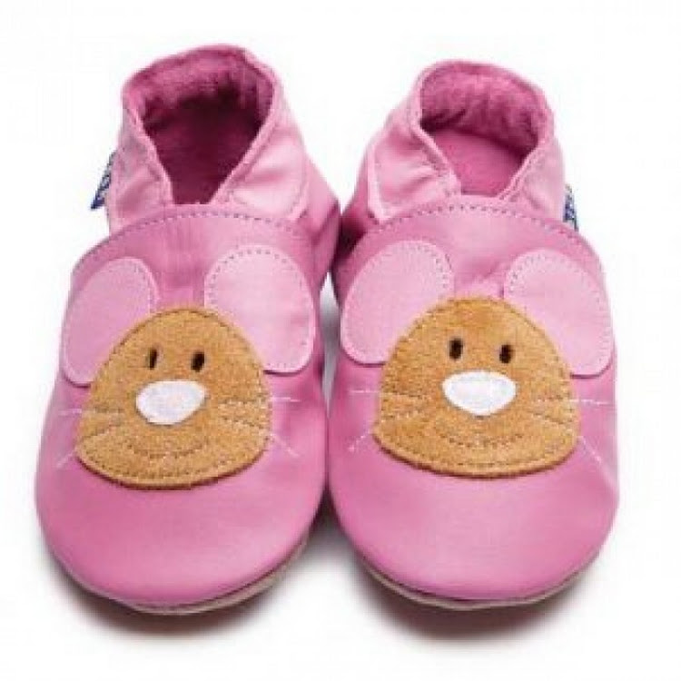 Inch Blue Soft Sole Leather Shoes - Squeak Baby Pink (12-18 months)