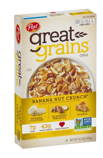 Cereal Post Great Grains Banana Nut Crunch 439 Gramos Great Grains  Banana Nut Crunch