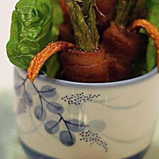 Deep Fry Bacon Wrap With Garlic Thyme Sauce.