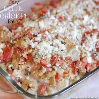 {Easy Dinner Recipe} Greek Chicken Bake.
