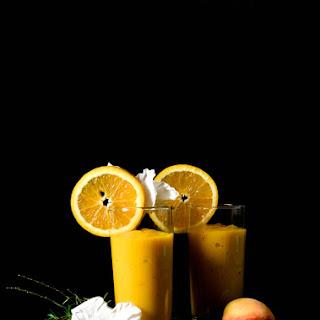 Mango, Peach and Orange Smoothie.