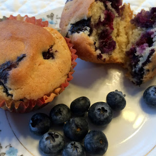 Blueberry Muffins with Nancy's Cultured Soy Yogurt.