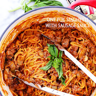One Pot Spaghetti with Sausage Sauce