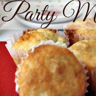 Tea Party Banana and White Chocolate Mini Muffins