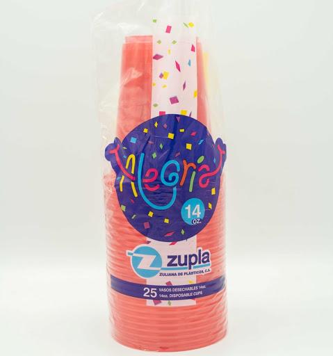 vasos alegria plastico colores surtidos 14oz 25und