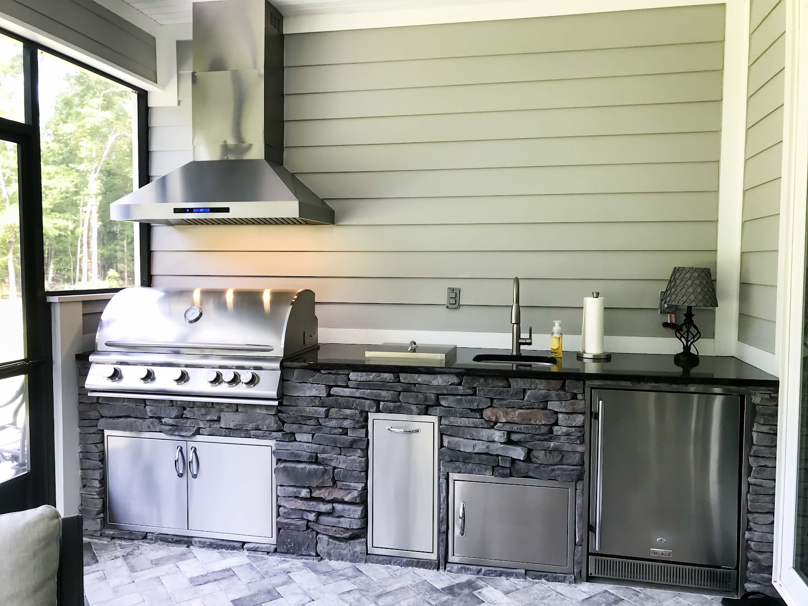 how do you winterize an outdoor kitchen