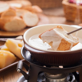 Gruyere and Brie Fondue