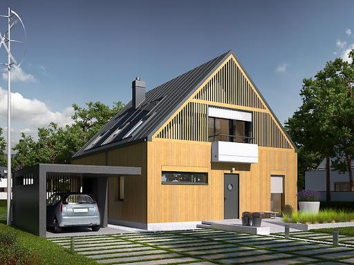 projekt E9 z wiatą wersja D Energo Plus
