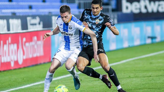 Chumi en su último partido con el Almería, el pasado 17 de febrero.