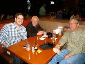 Photo: Pat Padley, Fr. Jay Finelli, and Steve Nelson