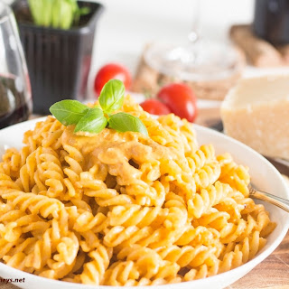 Fusilli with Pesto Trapanese.