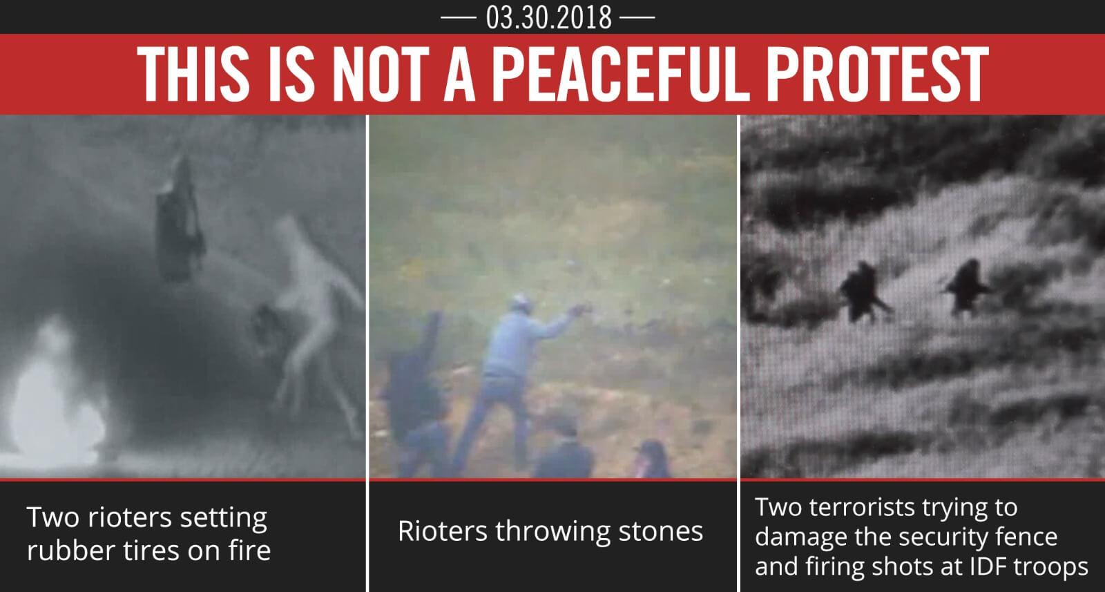 HAMAS MOUNTS VIOLENT RIOT ON ISRAEL'S BORDER