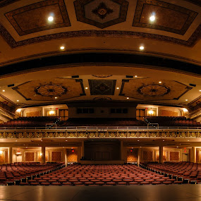 Capitol Theatre by Florin Marksteiner - Buildings & Architecture Public & Historical ( interior, theatre, empty seats, architecture, capitol, stage, balcony, spotlight,  )