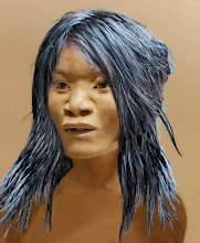 """Photo: Naia of Hoyo Negro New finds, theories, and genetic discoveries are revolutionizing our understanding of the first Americans. The first face of the first Americans belongs to an unlucky teenage girl who fell to her death in a Yucatán cave some 12,000 to 13,000 years ago. Her bad luck is science's good fortune. The story of her discovery begins in 2007, when a team of Mexican divers led by Alberto Nava made a startling find: an immense submerged cavern they named Hoyo Negro, the """"black hole."""" At the bottom of the abyss their lights revealed a bed of prehistoric bones, including at least one nearly complete human skeleton. more: http://ngm.nationalgeographic.com/2015/01/first-americans/hodges-text"""