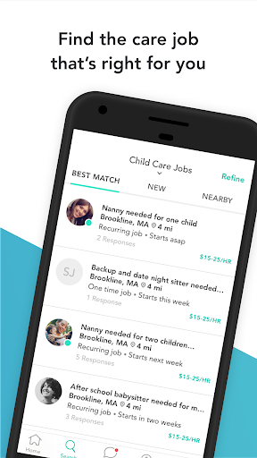 Screenshot for Care.com Caregiver: Find Child & Senior Care Jobs in United States Play Store