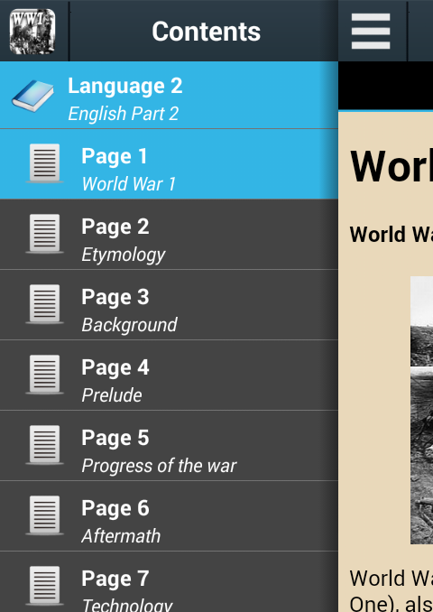 World War I History- screenshot