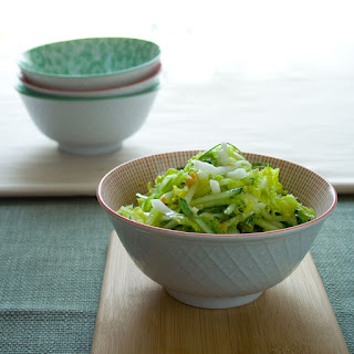 Cucumber And Napa Cabbage Coleslaw.