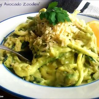 Creamy Avocado Zoodles