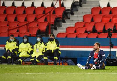 Neymar heeft in het duel tegen Lyon een enkelblessure opgelopen en komt dit jaar niet meer in actie