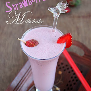 Strawberry Milkshake Recipe | Milkshake Recipes