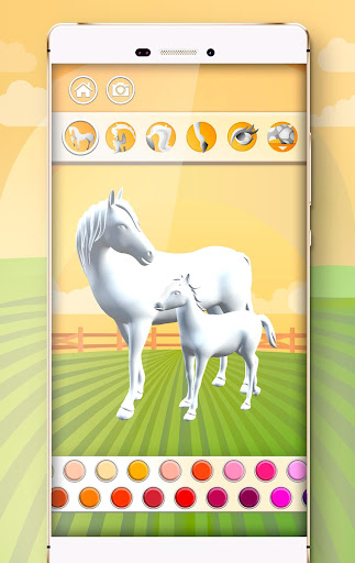Horse Coloring Book 3D image