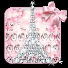 Tastiera Diamond rosa icon
