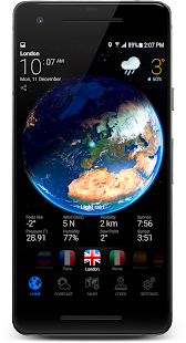 3D EARTH PRO - local weather forecast & rain radar Screenshot