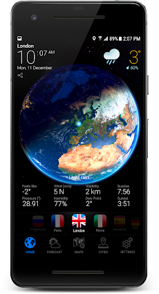 3D EARTH PRO - local weather forecast & rain radarのおすすめ画像1