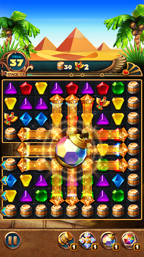 Jewels Treasure : Puzzle match 3  captures d'écran 4