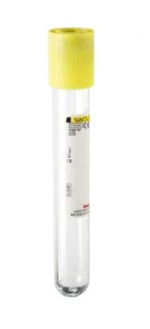 tubo de ensayo tapa amarilla