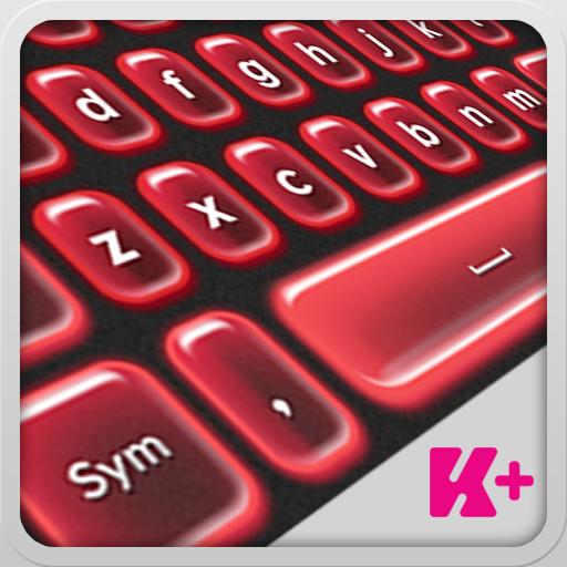 键盘加红色霓虹灯 個人化 LOGO-阿達玩APP