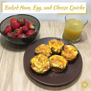 Baked Ham, Egg, and Cheese Quiche.