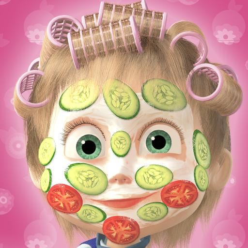 Masha e o Urso: Jogo de Maquiagem e Cabeleireiro