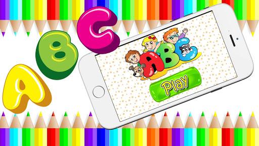 子供のためのABC本の着色ページ