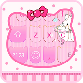 Lovely Pink Cat-Emoji Keyboard