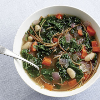 Noodle Soup with Kale and White Beans