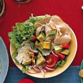 Turkey Salad With Tomato and Avocado.