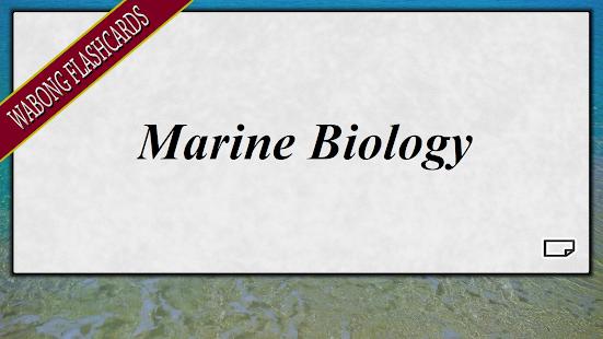 Marine Biology Flashcards - náhled