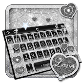 Black Silver Glitter Keyboard Theme Android APK Download Free By Bs28patel
