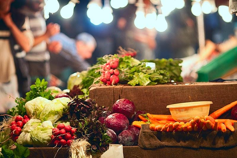 Овощи на стамбульском базаре